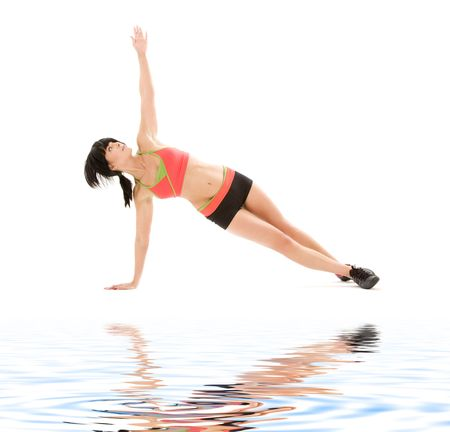 picture of woman practicing ashtanga yoga posture Stock Photo - 4118819