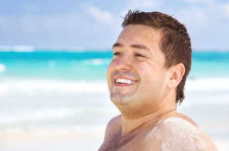 picture of happy man on the beach Stock Photo - 4282555