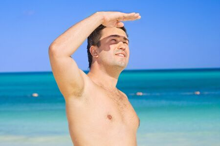 picture of happy man on the beach Stock Photo - 4367251