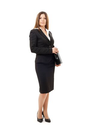 picture of happy successful businesswoman with laptop  Stock Photo - 4397010