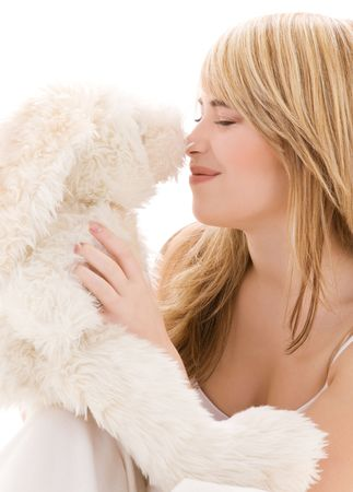picture of teenage girl with plush toy Stock Photo - 4573436