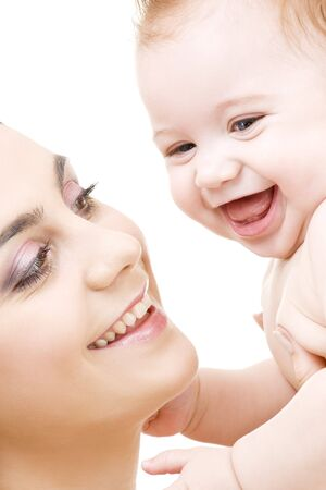 picture of happy mother with baby boy Stock Photo - 4584671