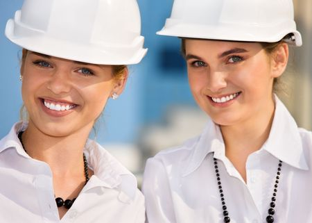 contractors in a front of building site Stock Photo - 4598676