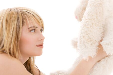 picture of teenage girl with plush toy Stock Photo - 4652954