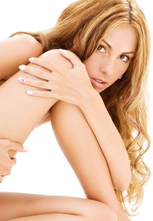 smooth skin: bright closeup picture of healthy beautiful woman LANG_EVOIMAGES