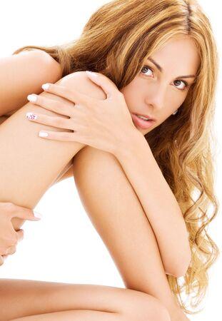 rejuvenating: closeup immagine luminosa di una sana bella donna