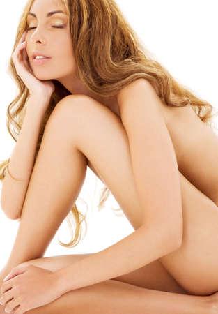 foto de mujer desnuda más saludable blanco Foto de archivo - 4894036