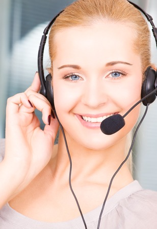 bright picture of friendly female helpline operator Stock Photo - 5197083