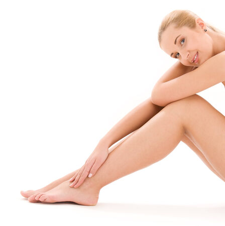 picture of healthy naked woman over white Stock Photo - 5196786