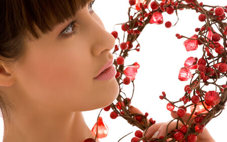 ashberry: portrait of lovely woman with red ashberry