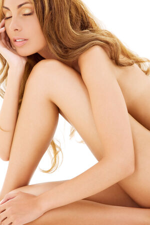 picture of healthy naked woman over white Stock Photo - 5197247