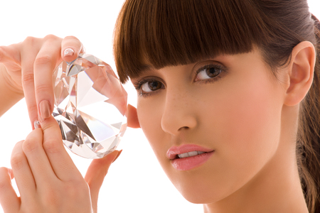 portrait of lovely woman with big diamond Stock Photo - 5348579