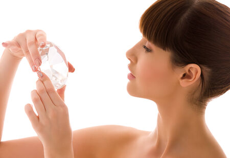 portrait of lovely woman with big diamond Stock Photo - 5348368