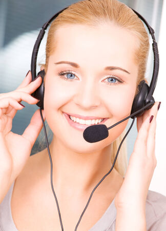 bright picture of friendly female helpline operator Stock Photo - 5348333