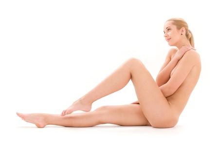 picture of healthy naked woman over white Stock Photo - 5668752