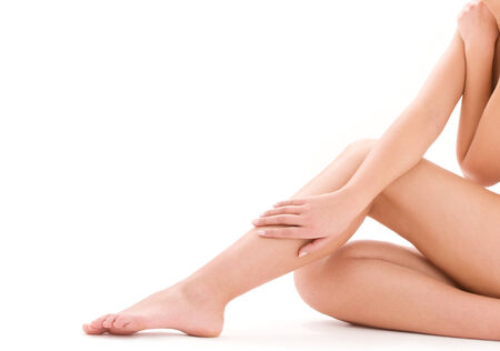 picture of healthy naked woman legs over white Stock Photo - 5660043