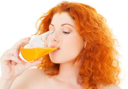 bright picture of lovely woman with glass of juice Stock Photo - 5676828