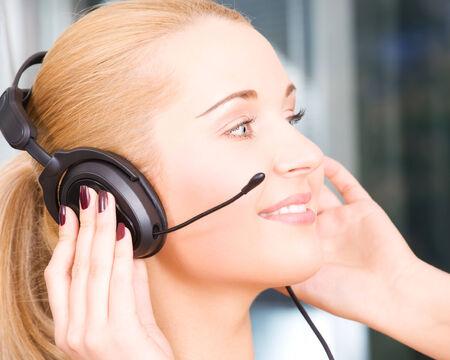 bright picture of friendly female helpline operator Stock Photo - 5677021