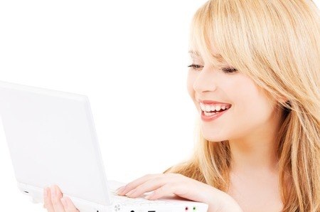 picture of teenage girl with laptop computer Stock Photo - 5677005