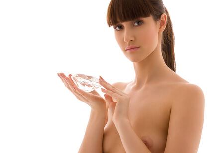 portrait of lovely woman with big diamond Stock Photo - 5668770
