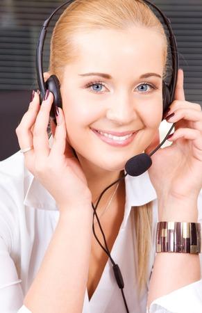 bright picture of friendly female helpline operator Stock Photo - 5677053