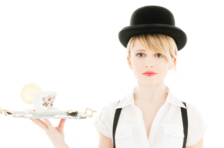 bright picture of lovely girl with cup of tea Stock Photo - 5668788