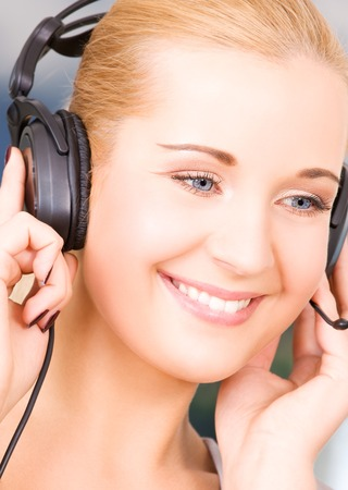 bright picture of friendly female helpline operator Stock Photo - 5668838