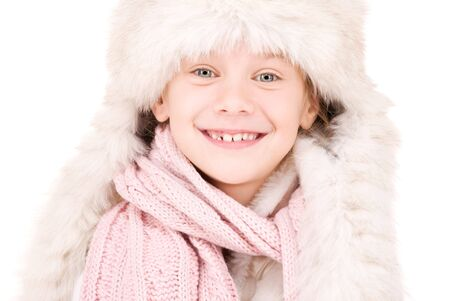picture of happy girl in winter hat Stock Photo - 5687095