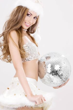 helpers: picture of sexy santa helper with disco ball