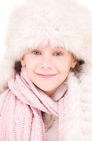 picture of happy girl in winter hat Stock Photo - 5813749