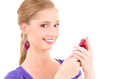 picture of happy teenage girl with cell phone Stock Photo - 5912608