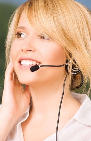 bright picture of friendly female helpline operator Stock Photo - 6071800