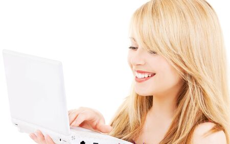 picture of teenage girl with laptop computer Stock Photo - 6100807
