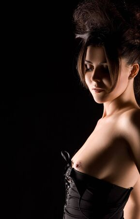 dark picture of sexy woman in black dress Stock Photo - 6548166