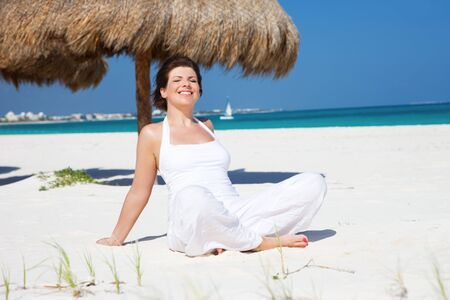 picture of happy woman on the beach Stock Photo - 6609926