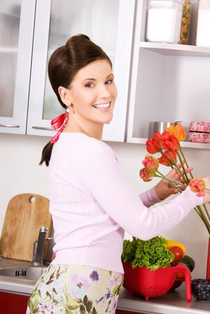 picture of beautiful woman in the kitchen Stock Photo - 6710157