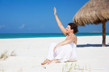 picture of happy woman on the beach Stock Photo - 6730909