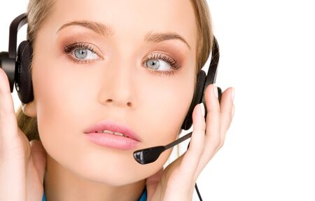 bright picture of friendly female helpline operator Stock Photo - 6731002
