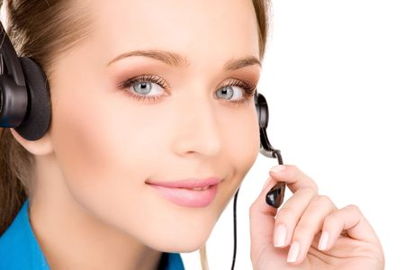 bright picture of friendly female helpline operator Stock Photo - 6805632