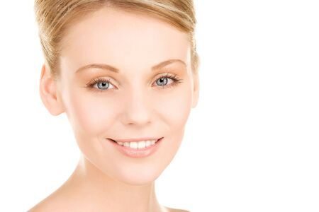 bright picture of lovely woman over white Stock Photo - 6805664