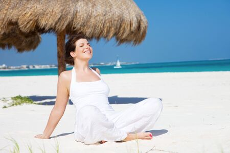 picture of happy woman on the beach Stock Photo - 6805594