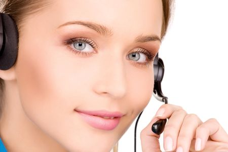 bright picture of friendly female helpline operator Stock Photo - 6805809