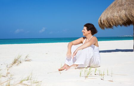 picture of happy woman on the beach Stock Photo - 6806015