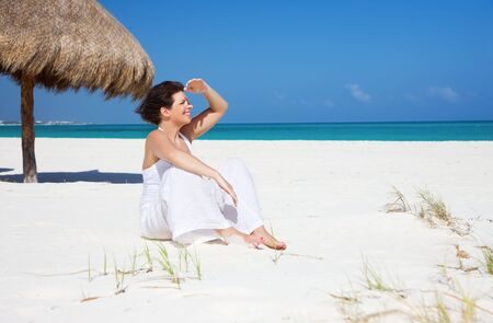 picture of happy woman on the beach Stock Photo - 6806079