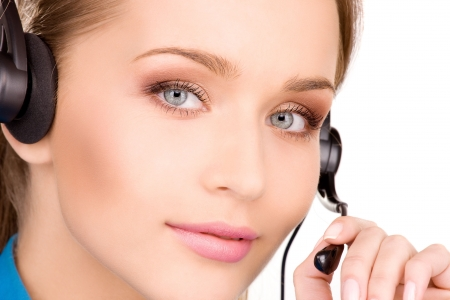 bright picture of friendly female helpline operator Stock Photo - 6806302
