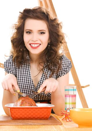 picture of young attractive woman in the kitchen Stock Photo - 6861577