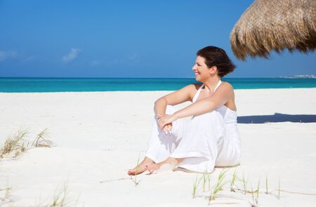 picture of happy woman on the beach Stock Photo - 6861563