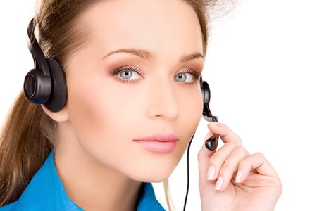 bright picture of friendly female helpline operator Stock Photo - 6862108