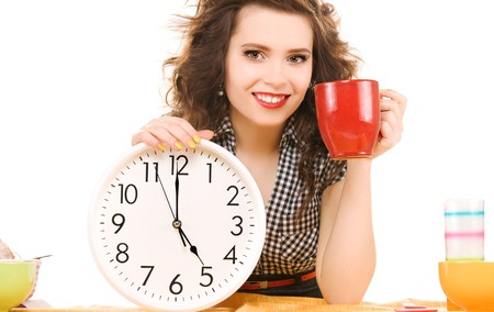 picture of young attractive woman in the kitchen Stock Photo - 6941624