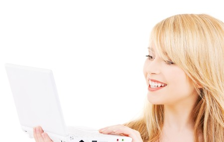 picture of teenage girl with laptop computer Stock Photo - 6941703
